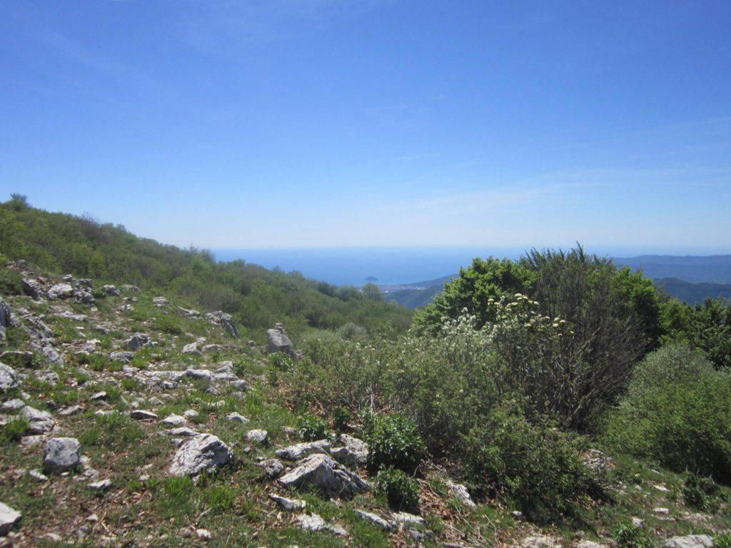 Percorso alta via dei monti liguri